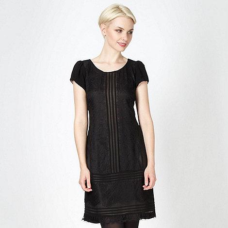 RJR.John Rocha - Designer black lace panel dress