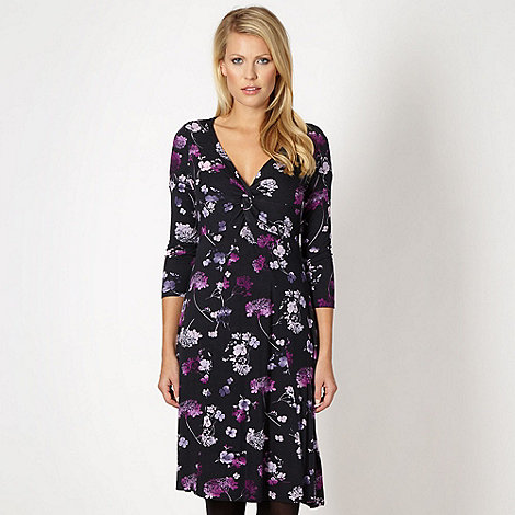 RJR.John Rocha - Designer black printed dress