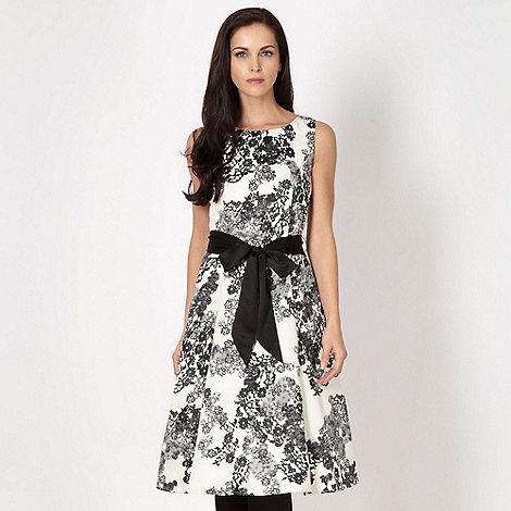 RJR.John Rocha - Designer ivory lace print prom dress