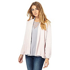 RJR.John Rocha - Light pink textured cardigan
