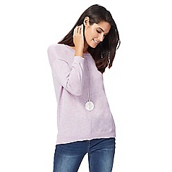 RJR.John Rocha - Lilac button applique back longline jumper