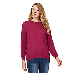 RJR.John Rocha - Purple button applique back longline jumper