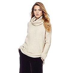 RJR.John Rocha - Natural longline slouchy roll neck jumper