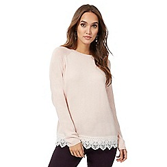 RJR.John Rocha - Light pink lace trim jumper