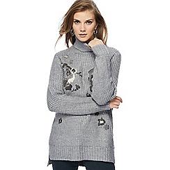 RJR.John Rocha - Grey wool blend embroidered jumper