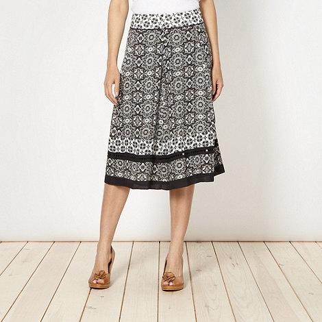 RJR.John Rocha - Designer black mixed floral woven skirt