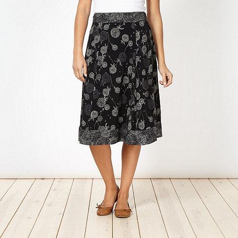 RJR.John Rocha - Designer black dandelion crepe skirt