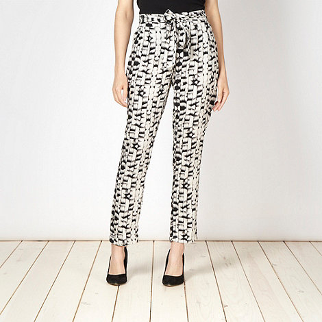 RJR.John Rocha - Designer black square patterned trousers