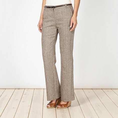 RJR.John Rocha - Designer natural tweed trousers