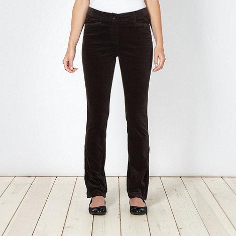 RJR.John Rocha - Designer brown velvet trousers