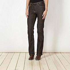 RJR.John Rocha - Shape enhancing  brown bootcut jeans