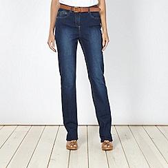 RJR.John Rocha - Designer dark blue belted straight leg jeans