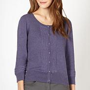 Designer purple embroidered cardigan