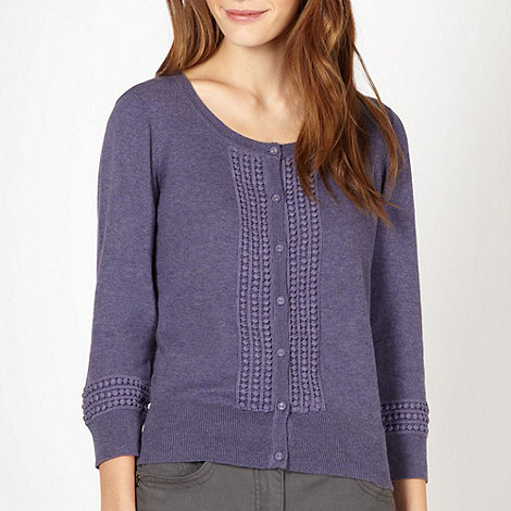 RJR.John Rocha - Designer purple embroidered cardigan