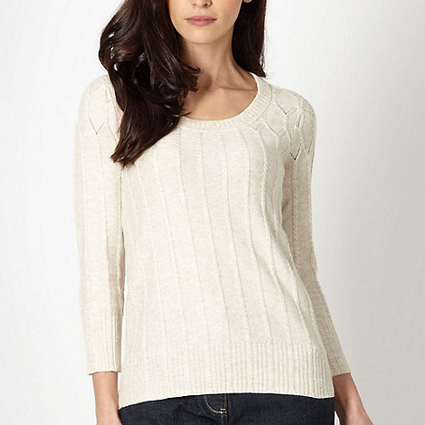 RJR.John Rocha - Designer cream cable knitted jumper