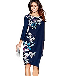 RJR.John Rocha - Navy wrap front shift dress