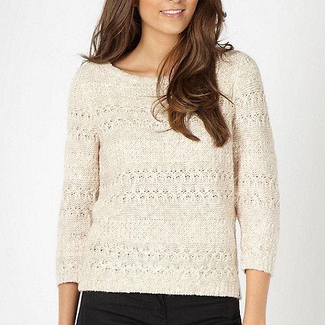 RJR.John Rocha - Designer beige textured knitted jumper