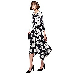 RJR.John Rocha - Black floral print midi dress