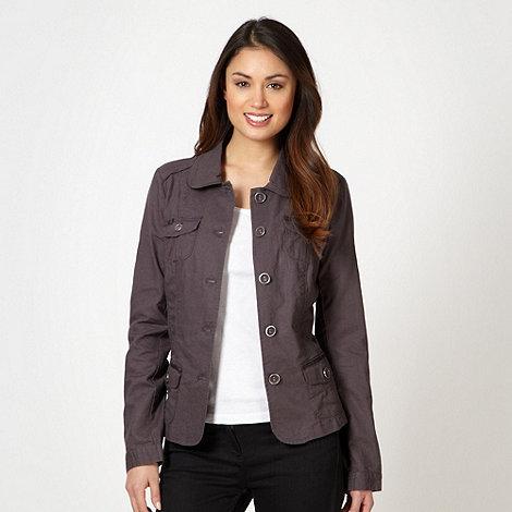 RJR.John Rocha - Designer dark grey linen blend jacket