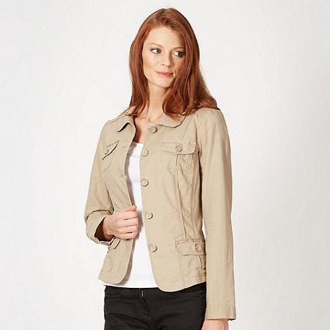 RJR.John Rocha - Designer natural linen blend jacket