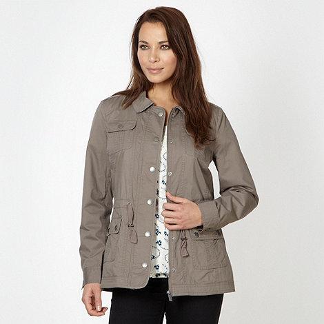 RJR.John Rocha - Designer taupe cotton jacket