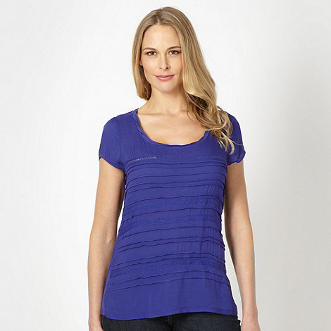 RJR.John Rocha - Designer purple pleat front top