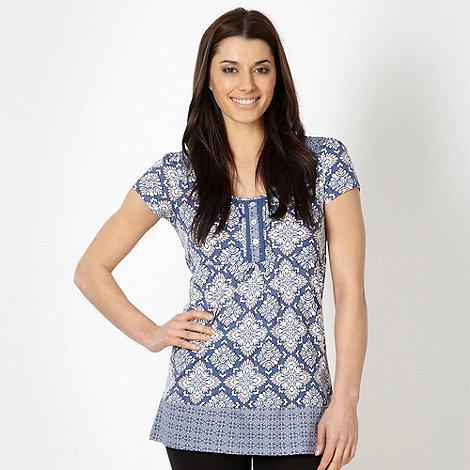 RJR.John Rocha - Designer aqua print tunic top