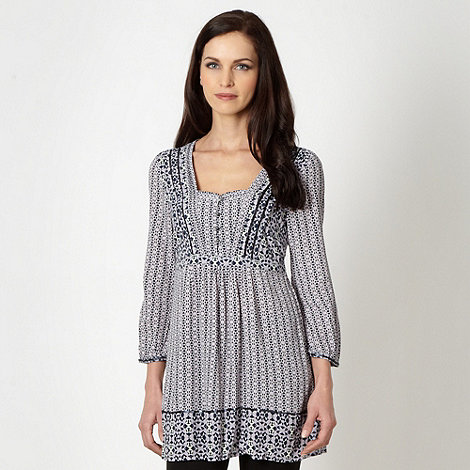 RJR.John Rocha - Designer lilac geometric pattern sequin tunic