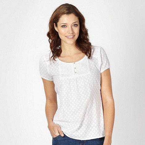 RJR.John Rocha - Designer white embellished blouse