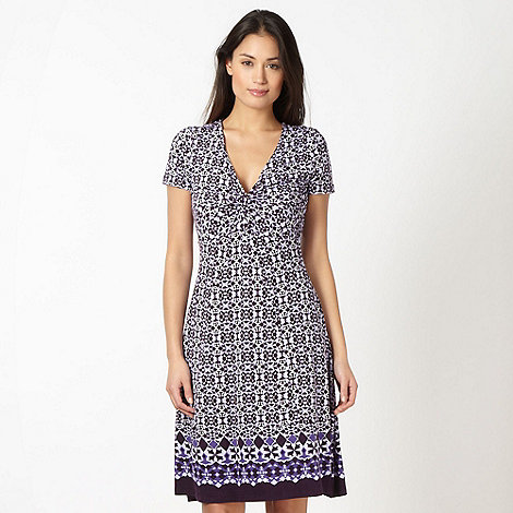 RJR.John Rocha - Designer lilac tile patterned jersey dress