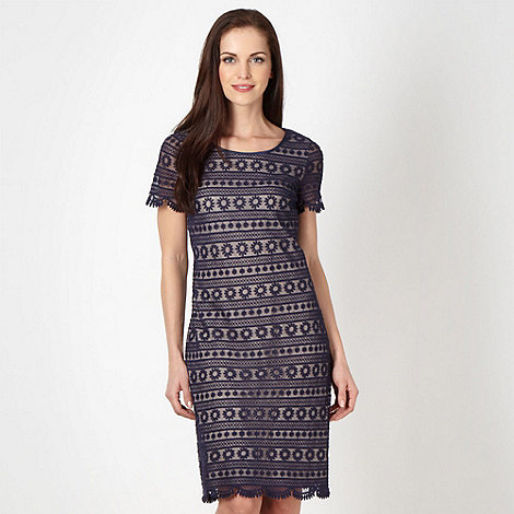 RJR.John Rocha - Designer navy floral lace shift dress