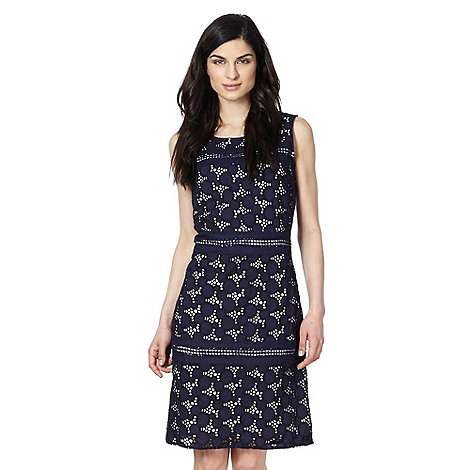 RJR.John Rocha - Designer navy cut out embellished dress