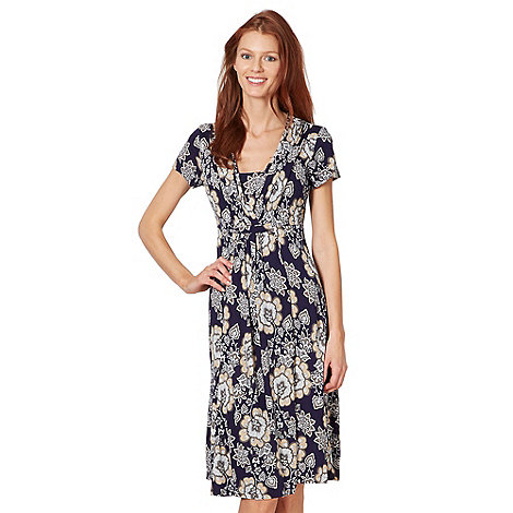 RJR.John Rocha - Designer navy floral jersey dress
