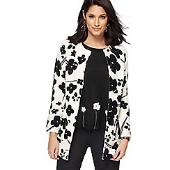 RJR.John Rocha - White and black floral print coatigan