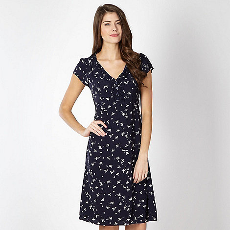 RJR.John Rocha - Designer navy dragonfly print tea dress