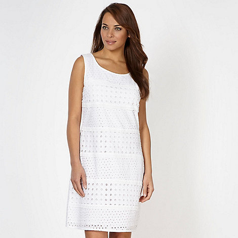 RJR.John Rocha - Designer white broderie shift dress