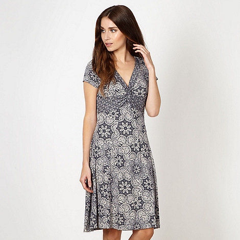 RJR.John Rocha - Designer navy lace patterned jersey dress