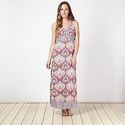 RJR.John Rocha - Designer purple mixed tile print jersey maxi dress