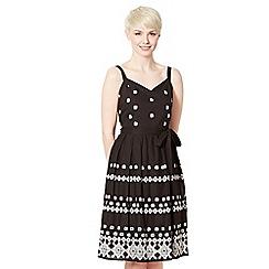 RJR.John Rocha - Designer black embroidered sun dress