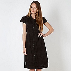 RJR.John Rocha - Designer black textured leaf shirt dress