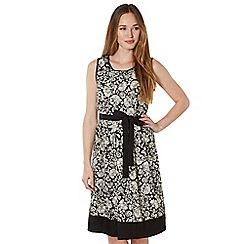 RJR.John Rocha - Designer black broderie floral dress