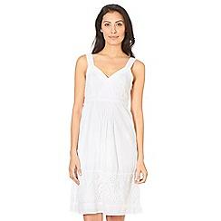 RJR.John Rocha - Designer white embroidered sun dress