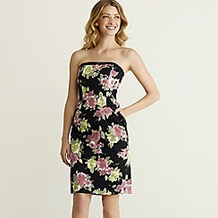 Rocha.John Rocha - Black rose print prom dress