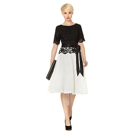RJR.John Rocha - Designer black lace two tone dress