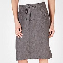 RJR.John Rocha - Designer dark grey linen skirt