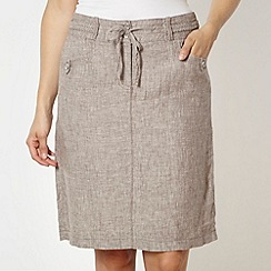RJR.John Rocha - Designer taupe linen skirt