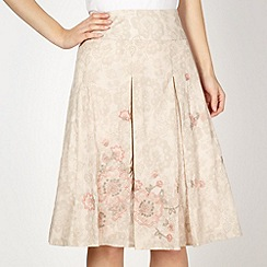 RJR.John Rocha - Designer natural embroidered floral skirt
