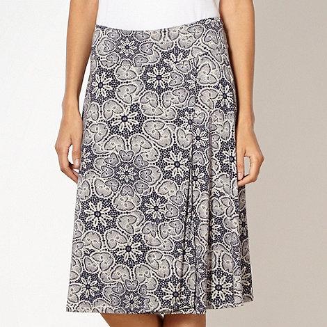 RJR.John Rocha - Designer navy lace patterned jersey skirt
