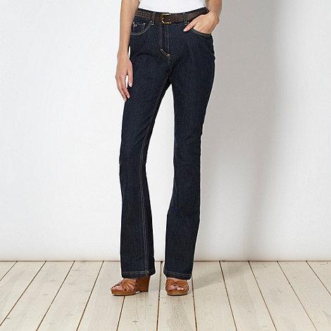 RJR.John Rocha - Designer dark blue slim bootcut jeans