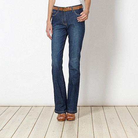 RJR.John Rocha - Designer shape enhancing dark blue slim bootcut jeans
